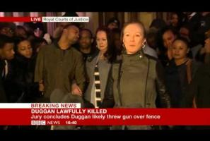 Family reaction to Mark Duggan inquest verdict 08Jan14
